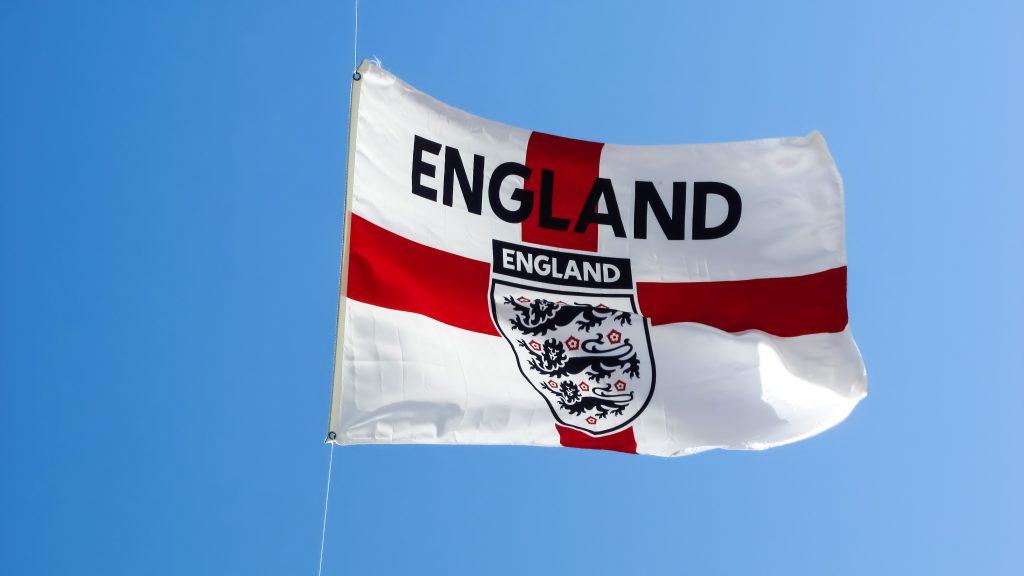 Bandera Inglaterra escudo futbol