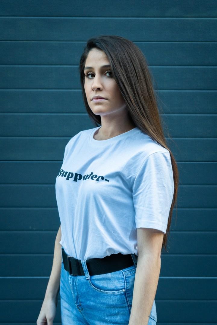 Camiseta Supporter blanca chica