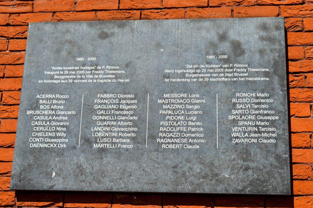 Placa Heysel 39 fallecidos 1985